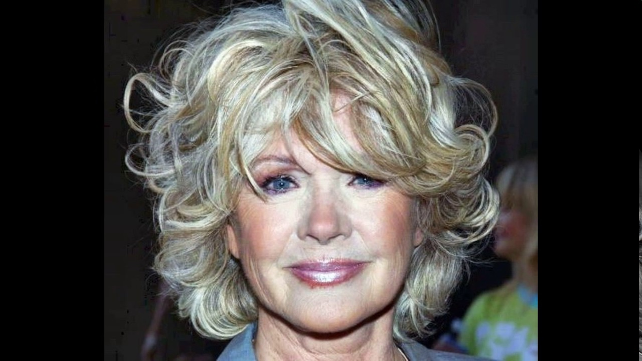 short haircuts for women over 60 with curly hair