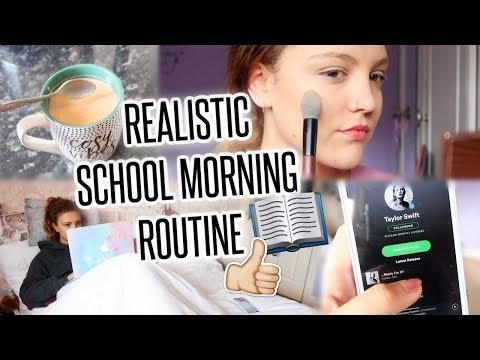 REALISTIC SCHOOL MORNING ROUTINE! Autumn 2017 | BeautySpectrum