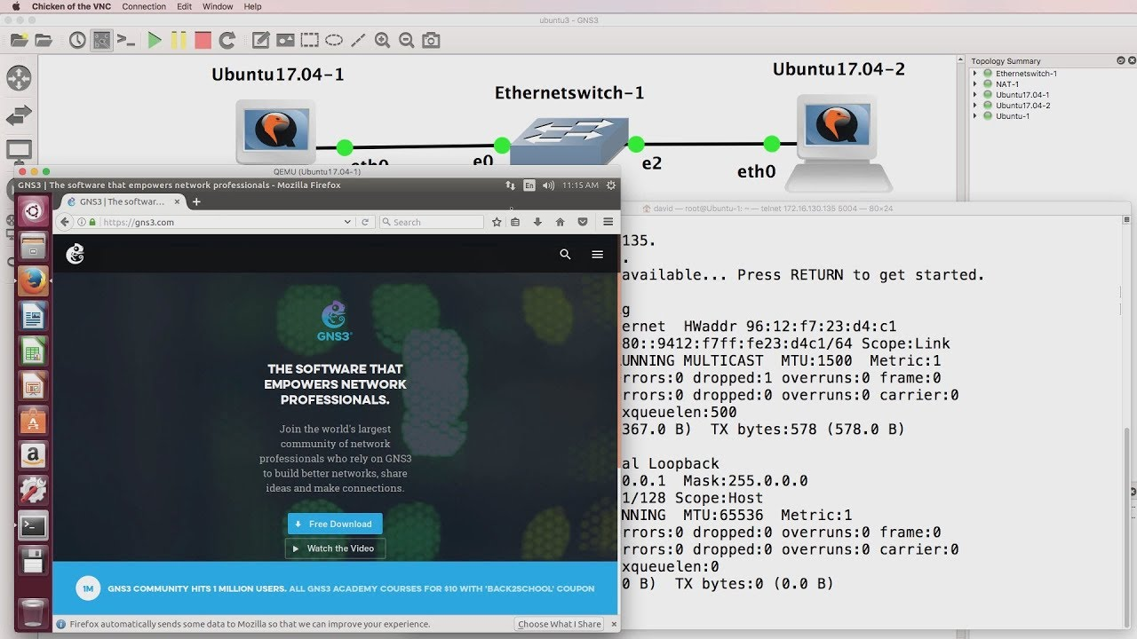 GNS3 now supports an Ubuntu QEMU GUI appliance! Run Ubuntu Desktop  appliances in GNS3 & learn Linux