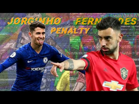 Jorginho vs Bruno Fernandes penalty technique