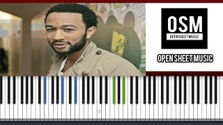 All Of Me - John Legend | Piano Tutorial | SHEET MUSIC + MIDI