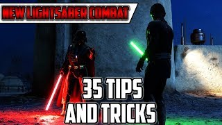 35 Tips For New Lightsaber Combat! How to Dominate Lightsaber Duels! Star Wars Battlefront 2