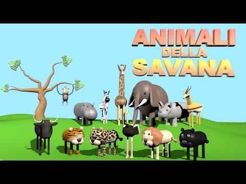 Animali della savana alexkidstv youtube for Disegni da colorare animali della foresta