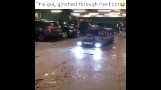 This guy glitch through the floor