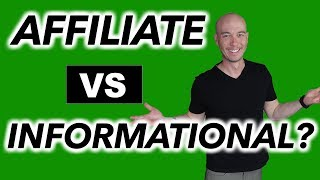 How much affiliate content should I have compared to informational content