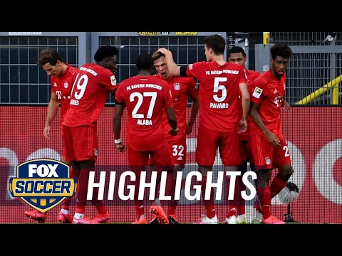 Bayern Munich's Kimmich stuns Dortmund with chip for game's only goal  2020 Bundesliga Highlights