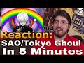 SAO/Tokyo Ghoul  IN 5 MINUTES: Reaction #AirierReacts