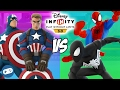 Team Captain America VS Team Spiderman Marvel Battlegrounds Versus Disney Infinity 3.0