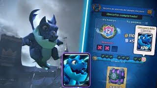 I get the challenge of the new letter of CLASH ROYALE electric DRAGON