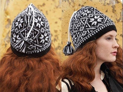 8 Fair Isle Hat, Vogue Knitting Fall 2011 - YouTube
