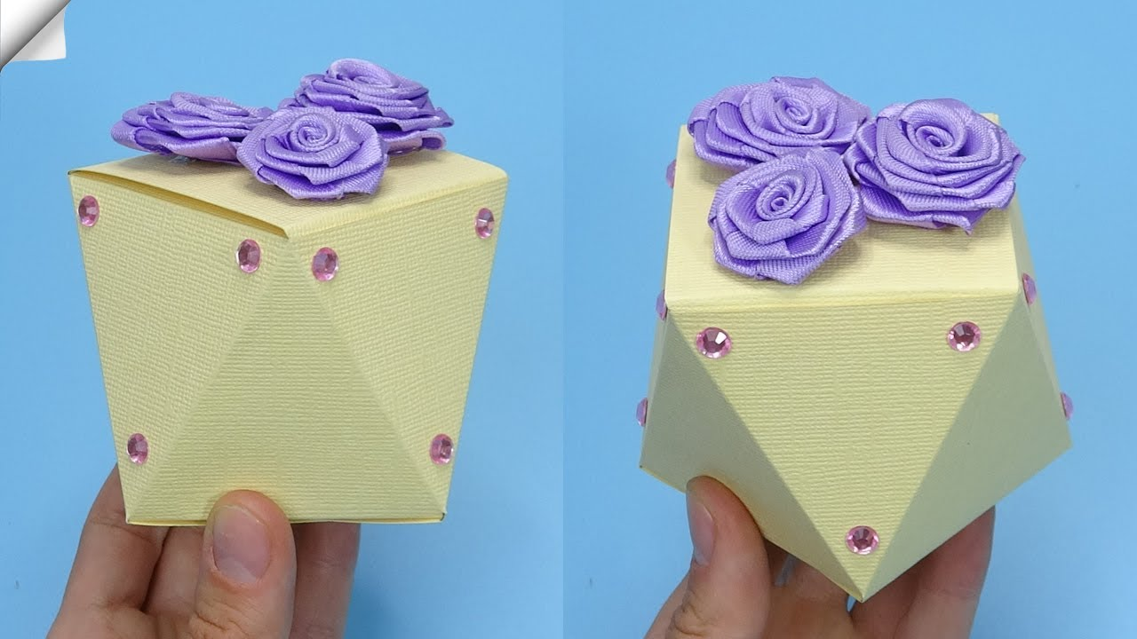 DIY paper crafts idea Gift box making  DIY gift box