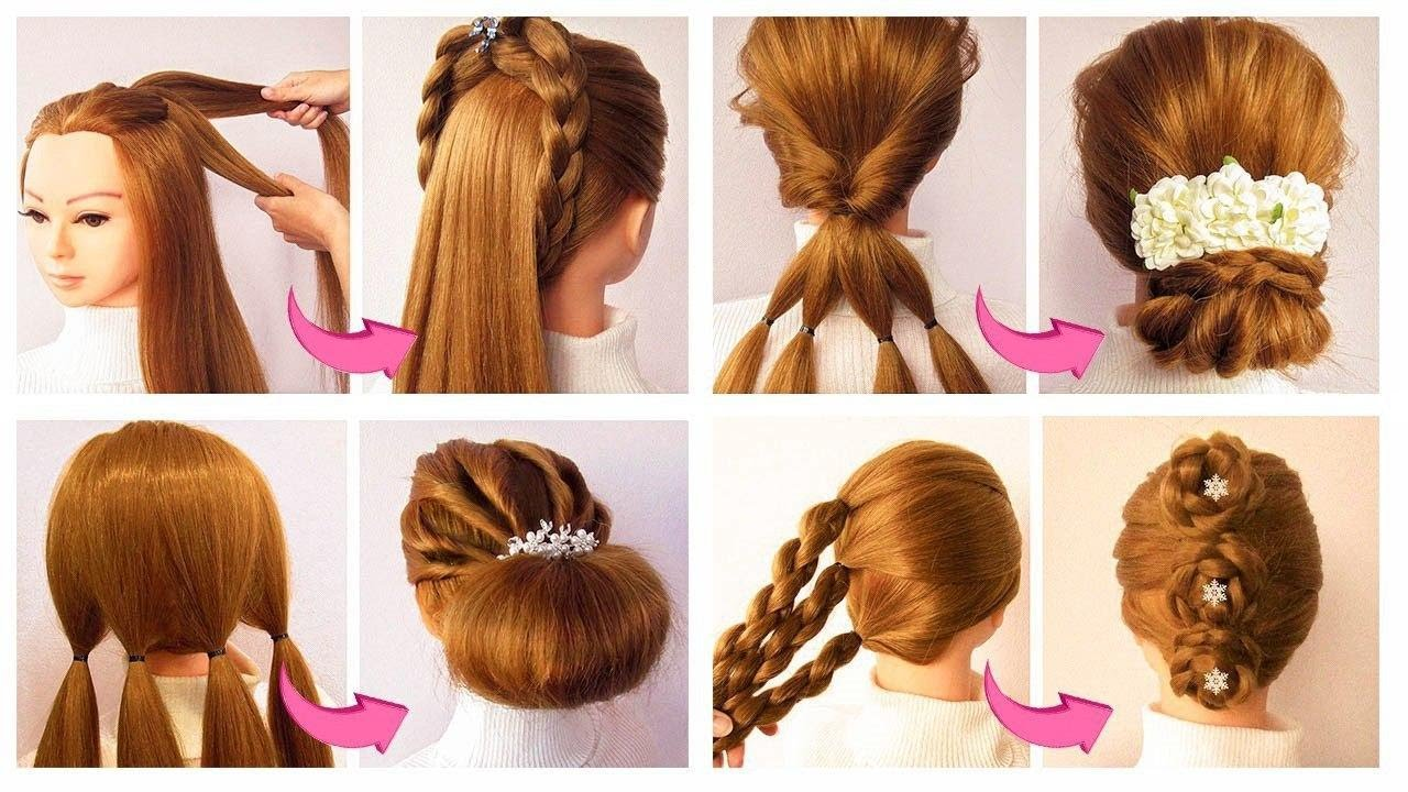 4 SUPER Quick & Easy Juda Hairstyles for party ❤ Coiffures FACILES à faire soi même cheveux mi long