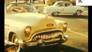 1950s Drive in Diner, Hamburgers, Americana, Rare Color Home Movie Footage