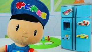 Pepees neues Spielzeug - Wir machen kunterbunte Magnete für den Kühlschrank