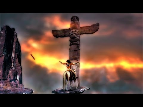 Native American Indian Flute Music - Shamanic Music. Spiritual Vocal.