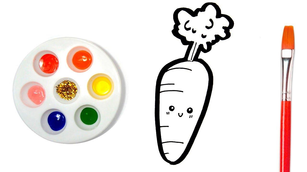 Learn Colors Carrot Coloring Page For Kids Como Dibujar Y Colorear Una Zanahoria Colores Para Nino Youtube Descarga la lámina de la zanahoria para colorear. learn colors carrot coloring page for kids como dibujar y colorear una zanahoria colores para nino