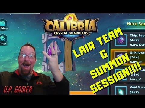 Calibria Crystal Guardians - LAIR TEAM & SUMMONS SESSION | U.P. Gamer | 04-23-2020
