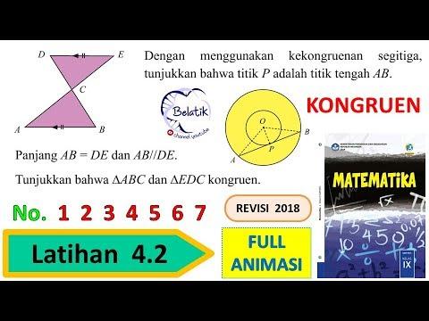 Latihan 4 2 Nomor 1 2 3 4 5 6 7 Kelas 9 Smp Mts Kekongruenan Dua
