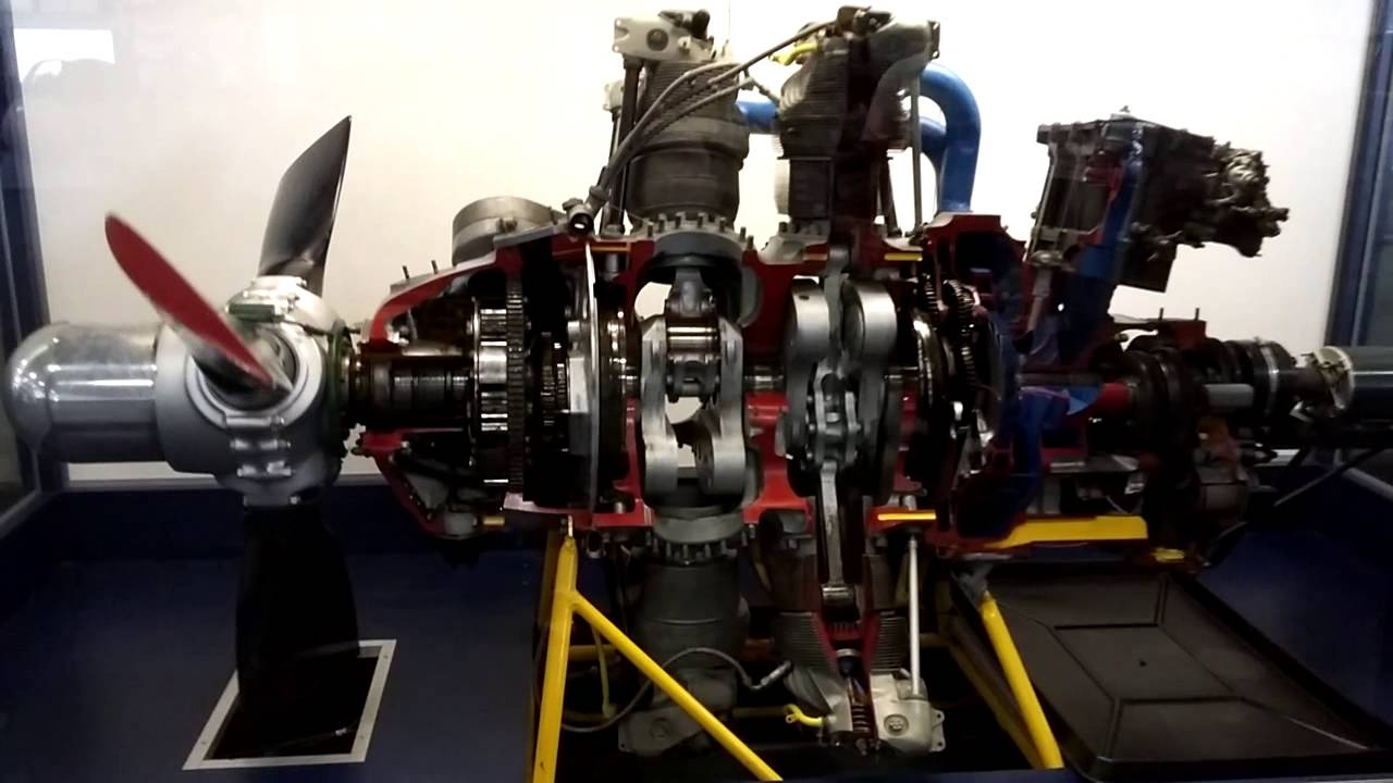 Pratt & Whitney R-2800 Double Wasp Engine Full Scale Moving Cutaway Model @  USS midway navy ship