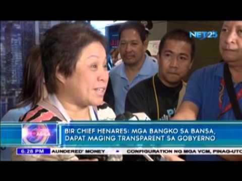 BSP in favor of amending the bank secrecy laws