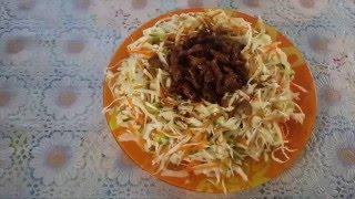 Рецепт как приготовить китайский салат Хейхе - Recipe how to cook Chinese salad Heihe
