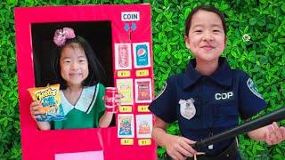 박스 자판기 만들기 놀이 음료수 과자 장난감 아엘튜브 Playing Giant vending machine kids toys 아엘튜브 Aeltube