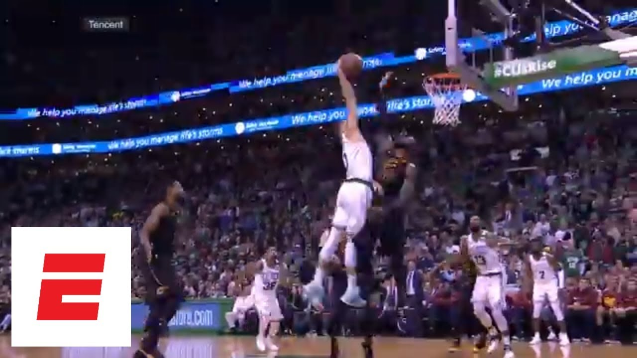 jayson tatum s posterizing dunk on lebron james angles and reactions from around the world espn