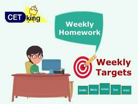 129 days for CAT and 225 to CET. weekly targets homework.