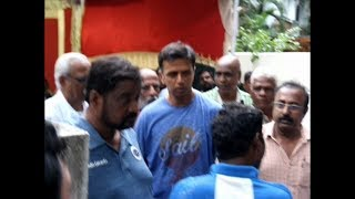 Rahul Dravid Visits VB Chandrasekhar house||Indian Cricketer VB.Chandrasekhar