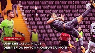 Nostro Milan Udinese 1 2 AC Milan élection du joueur du mois d octobre Serie A 2020 2021