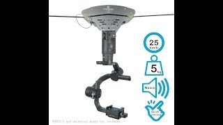 PowerKam Black T1.0 mini osmo cable cam,wire cam,rope cam,line cam,also for GoPro,smart phone