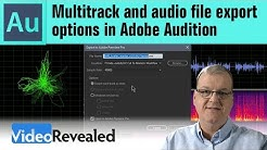 Multitrack and audio file export options in Adobe Audition