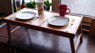 видео Кроватный столик своими руками: изготовление стола
