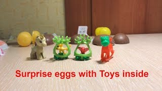 Kinder surprise eggs for kids with toys inside