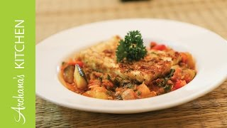 Homemade Ratatouille With Grilled Cottage Cheese By Archana's Kitchen