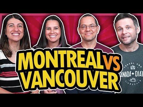 MONTREAL vs VANCOUVER - COMPARAÇÃO - QUAL É A MELHOR CIDADE DO CANADÁ?