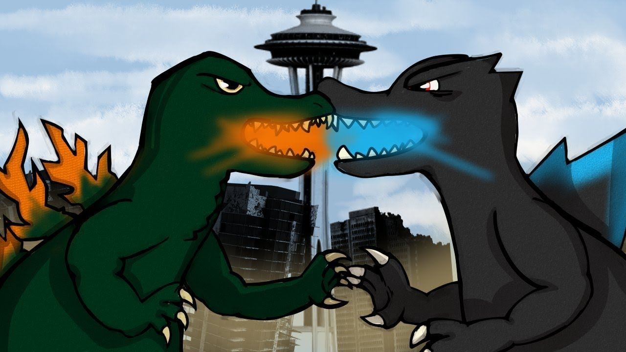 GODZILLA VS GODZILLA | Godzilla: Destroy All Monsters ...