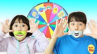 Mashu Funny Playing with Magic Wheel 뽀로로 핑크퐁 쿵푸팬더 슈렉 캔디 입술사탕 마슈의 복불복 룰렛놀이! 마슈브이로그 Mashu Vlog