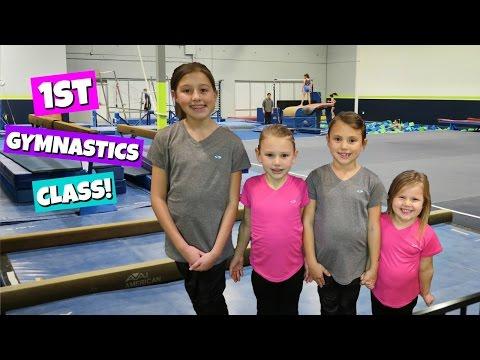 FIRST GYMNASTICS CLASS!