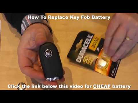 How To Replace Key Fob Battery Car Key Battery Replacement Video
