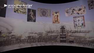 3D recreation projection of the Mogao Grottoes, China