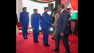 KENYAN POLICE RECEIVE NEW UNIFORM
