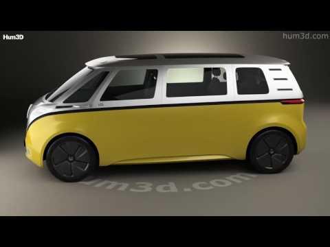 Volkswagen ID Buzz 2017 3D model by Hum3D.com