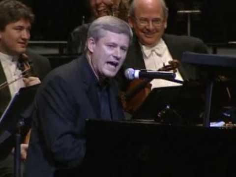 Stephen Harper sings Beatles song with Yo Yo Ma