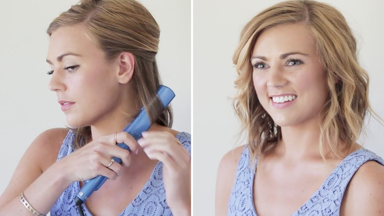 how to style hair with curling iron how to curl your hair with a flatiron hair tutorial 4398