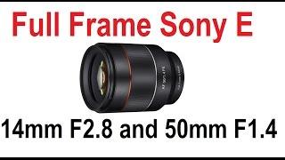 Breaking News Samyang Autofocus Lenses for Sony E