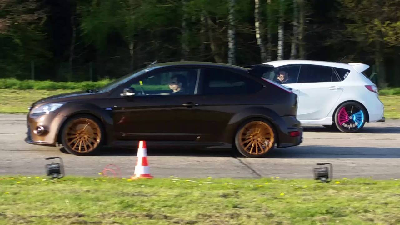 Ford Focus Rs Vs Mazda Mps3 1 4 Mile