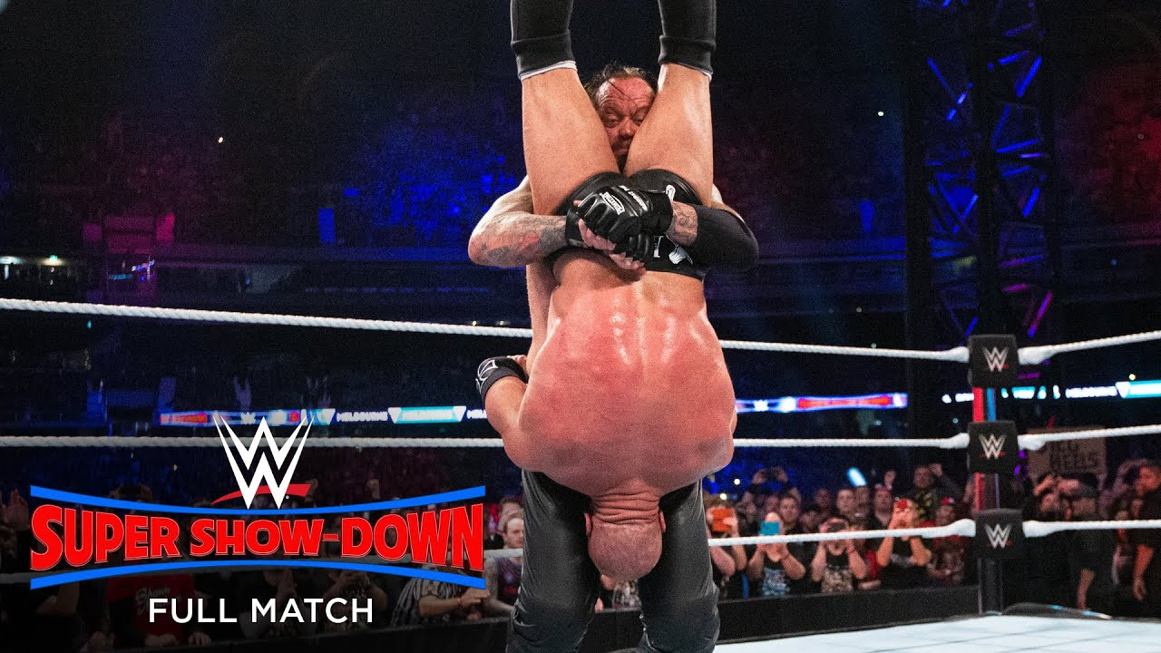 Download FULL MATCH - Undertaker vs. Triple H - No Disqualification Match: WWE Super Show-Down 2018
