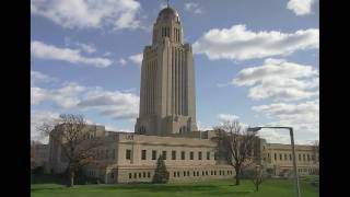 Timelapse of Clouds blowing over Nebraska State Capital