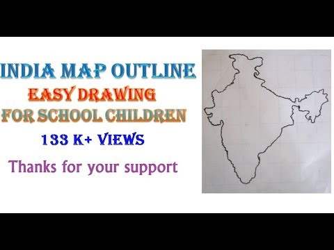 How To Draw  INDIA MAP Very Easily - VISHNU HARIDASS (10yrs old)